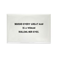 Woman Rolling Eyes Rectangle Magnet (100 pack)