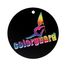 Colorful Colorguard Ornament (Round)
