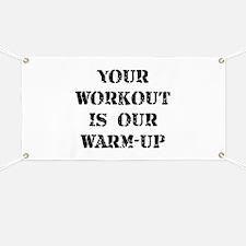 Workout Warm Up Banner