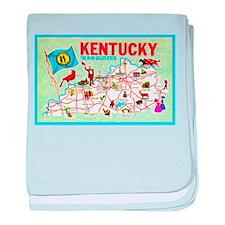 Kentucky Map Greetings baby blanket
