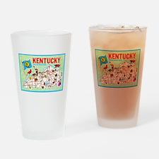 Kentucky Map Greetings Drinking Glass