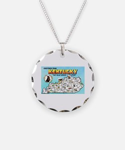 Kentucky Map Greetings Necklace