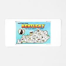 Kentucky Map Greetings Aluminum License Plate