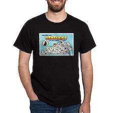 Kentucky Map Greetings T-Shirt
