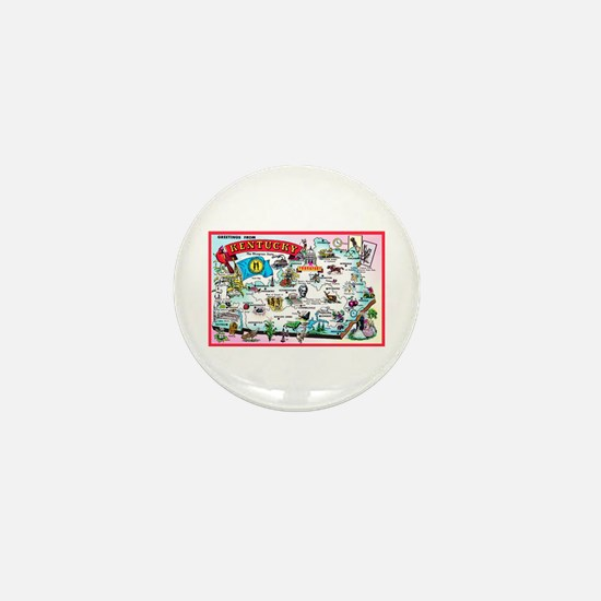 Kentucky Map Greetings Mini Button