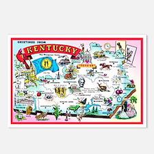Kentucky Map Greetings Postcards (Package of 8)