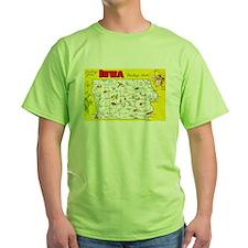 Iowa Map Greetings T-Shirt