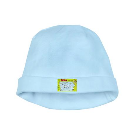 Iowa Map Greetings baby hat