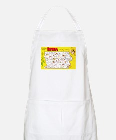 Iowa Map Greetings Apron