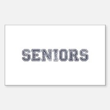 Seniors High School Sticker (Rectangle)