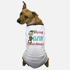 Funny Elfin Christmas Dog T-Shirt