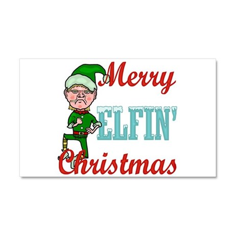 Funny Elfin Christmas Car Magnet 20 x 12