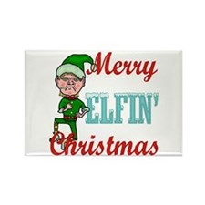 Funny Elfin Christmas Rectangle Magnet