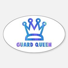 Guard Queen Oval Decal