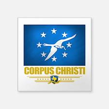 "Corpus Christi (Flag 10).png Square Sticker 3"" x 3"