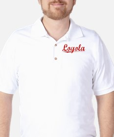 Loyola, Vintage Red Golf Shirt