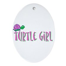 turtlegirl.png Ornament (Oval)