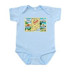 Indiana Map Greetings Infant Bodysuit