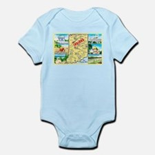 Indiana Map Greetings Infant Bodysuit