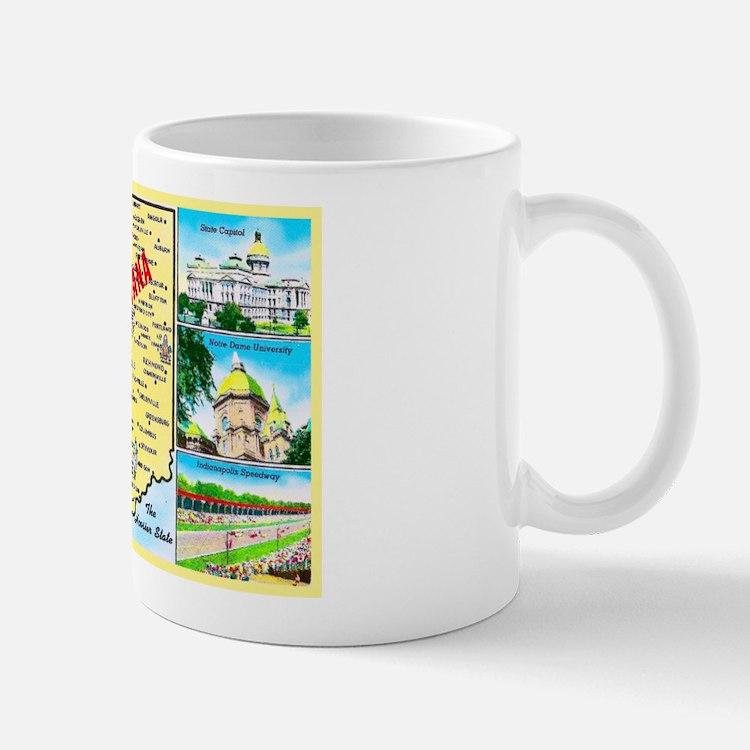 Indiana Map Greetings Mug