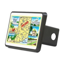 Indiana Map Greetings Hitch Cover