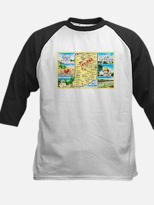Indiana Map Greetings Kids Baseball Jersey