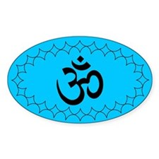 om blue2 Oval Decal
