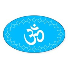 om blue1 Oval Decal