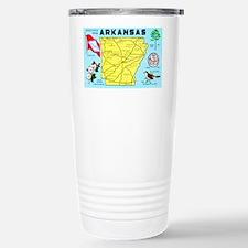 Arkansas Map Greetings Stainless Steel Travel Mug