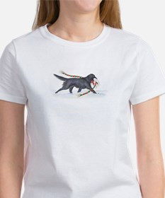 Flat-coated Retriever Christmas Woman's T-shirt