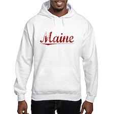 Maine, Vintage Red Hoodie