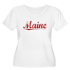 Maine, Vintage Red T-Shirt