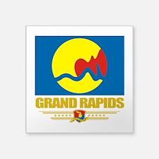 "Grand Rapids (Flag 10).png Square Sticker 3"" x 3"""