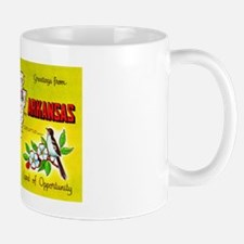 Arkansas Map Greetings Mug