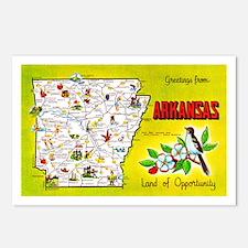 Arkansas Map Greetings Postcards (Package of 8)