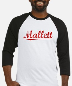 Mallett, Vintage Red Baseball Jersey