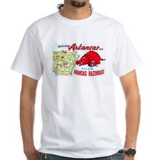 Arkansas Map Greetings Shirt