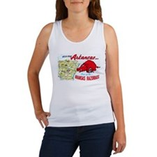 Arkansas Map Greetings Women's Tank Top