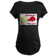 Arkansas Map Greetings T-Shirt