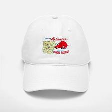 Arkansas Map Greetings Baseball Baseball Cap