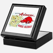 Arkansas Map Greetings Keepsake Box