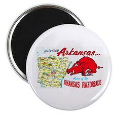 Arkansas Map Greetings Magnet
