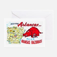 Arkansas Map Greetings Greeting Card