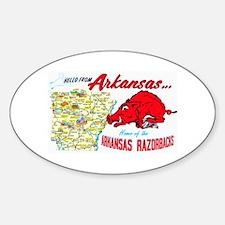Arkansas Map Greetings Decal