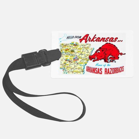 Arkansas Map Greetings Luggage Tag