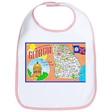 Georgia Map Greetings Bib