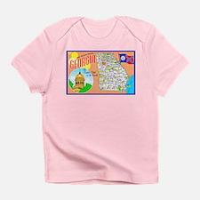Georgia Map Greetings Infant T-Shirt