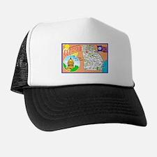 Georgia Map Greetings Trucker Hat
