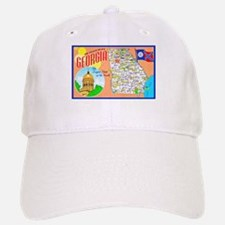 Georgia Map Greetings Baseball Baseball Cap