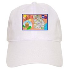 Georgia Map Greetings Baseball Cap